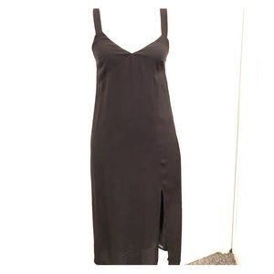 NWT charcoal midi dress with slit. Medium